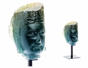 Daum Crystal Bouddha Blue Green - Guaranteed Lowest Price