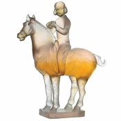 Daum Crystal Musician On Horse - Guaranteed Lowest Price