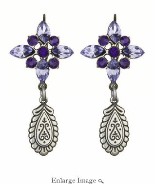 LK Jewelry Violet Drop Earrings
