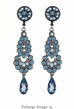 LK Jewelry Turquoise Drop Earrings