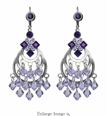LK Jewelry Violet Multi Drop Earring