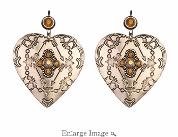 LK Jewelry Amber Rose Heart Earrings