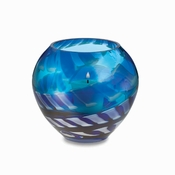 "Waterford Cobalt Rush 4.5"" Votive"