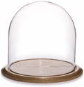 "Glass Dome with Oak Base - 12"" x 12"""