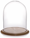 "Glass Dome with Oak Base - 12"" x 15"""