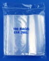 6x4 2mil clear zipper bags, pack of 100