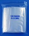 6x8 2mil clear zipper bags, pack of 100