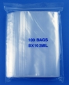 8x10 2mil clear zipper bags, pack of 100