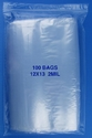 12x13 2mil clear zipper bags, pack of 100