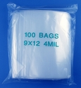 9x12 4mil clear zipper bags, pack of 100