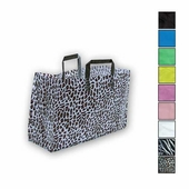 16in. x 12in. x 6in. Folded Handle Frosted Shopping Bags