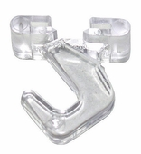 Clear Hinged Plastic Ceiling Clip