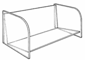 Slatwall Acrylic Compact-Disc Shelf