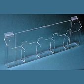 Slatwall Acrylic Multi-Pocket Tri-Fold Holders