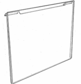 Slatwall or Gridwall Acrylic One-Piece Sign Frame