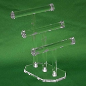 Acrylic Triple T-bar Necklace and Bracelet Display