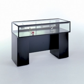 48in. Sit Down Jewelry Display Case with Boxed Frame