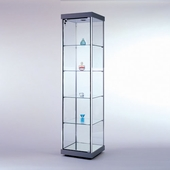Quick Ship - Square Tower Display Case