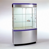 Curved Wall Display Case