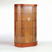 22 Square Foot Curved Wall Display Case