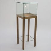 Pedestal Display  with Top-in-Glass  and Legs