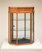 Wood Tall Octagonal Countertop Showcase