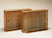 Wood Wallmount Display Cases