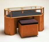 Wood Octagon Sit Down Jewelry Display Case
