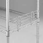 Side and Back Ledges for Wire Shelving Units Box of 20