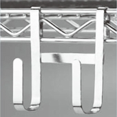 Snap-On Double Utility Hook for NSF Wire Shelving Box of 150