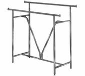 Heavy Duty Double Bar Clothing Rack w/ V-Brace