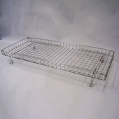 Basket For Double Bar Clothing Rack