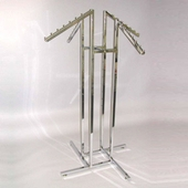 4-Way Clothing Rack w/ Slant Arms - Square Tubing