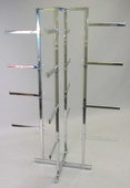 Lingerie Tower Rack - Square Tubing w/ Rectangular Tubular Arms