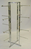 Lingerie Tower Rack - Square Tubing w/ Round Tubing Arms