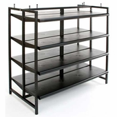 Black Box Rack with Shelves