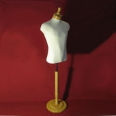 Male Classic Muscular Shirt Form with Base and Neckblock