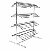 8 Shelf Chrome Shoe Rack