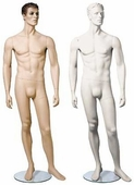 Julian Series Male Mannequin w/ Arms by Side and One Leg to the Side