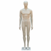 Male Mannequin With Oval Head With Straight Legs and Arms