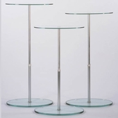 Adjustable Oval Glass Pedestal