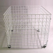 36in. Square Wire Grid Dump Bin White