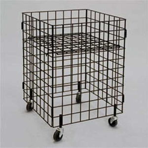 24in. Square Wire Grid Dump Bin Black