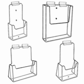 Gridwall Acrylic Single Pocket Brochure Holders