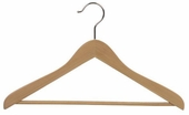 Wooden Suit Hanger with Non-Slip Pant Bar (Box of 50)