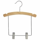 12 Inch Outfit Wood Hanger with 6 Inch Drop Bar (Box of 100)