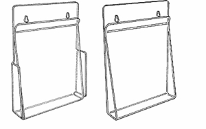 Acrylic Wall Mounting Displays with Hold-Down Flap
