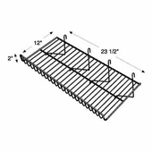 Grid Wire Sloping Shelf Black Box of 10