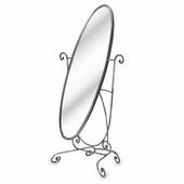 Aaron Contemporary Oval Floor Mirror