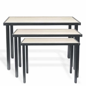 Aaron Contemporary Knockdown Nestable Table